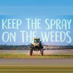 Keep The Spray On The Weeds